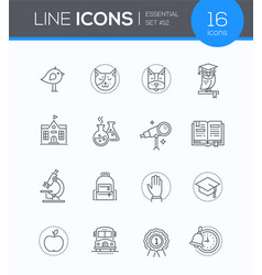 School concepts - modern line design style icons vector