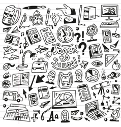 School education - doodles set vector image