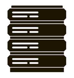 Server icon simple style vector