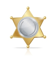 sheriff badge star of the two metals vector image