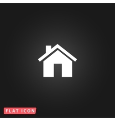 Small house flat icon vector image