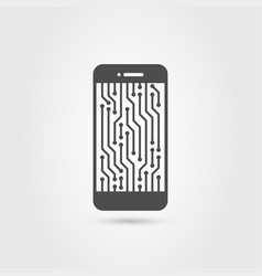 Smart phone icon vector