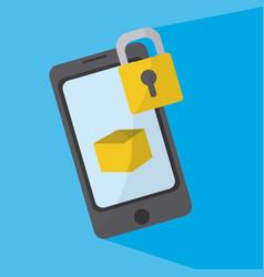 smartphone locked symbol vector image