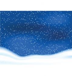 snowy sky vector image