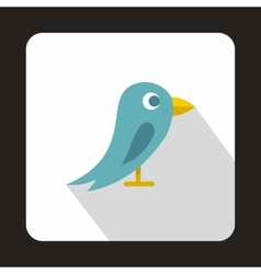 Social media blue bird icon flat style vector image