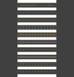 straight asphalt road seamless horizontal highway vector image