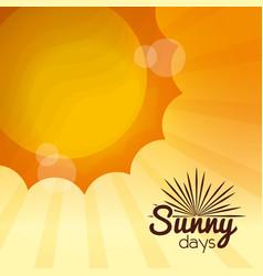 sunny days card vector image