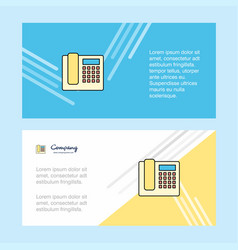 telephone abstract corporate business banner vector image