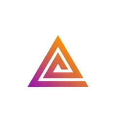 Triangle logo template vector