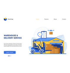 warehouse delivery logistic service vector image