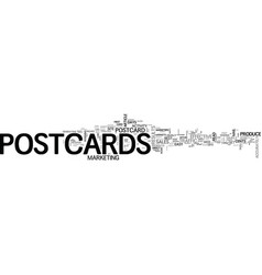 why market with postcards text word cloud concept vector image