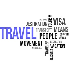 word cloud travel vector image