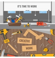 Workplaces And Tools Compositions vector