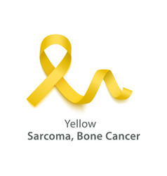 Yellow symbolize sarcoma bone cancer awareness vector