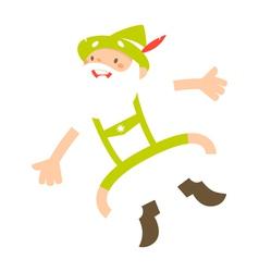 alpine man vector image vector image