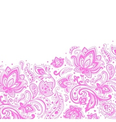 Beautiful paisley background vector image vector image