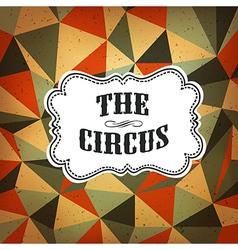 circus diamond pattern vector image vector image