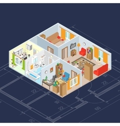 Isometric Interior Concept vector image vector image