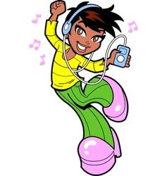 Pretty Dancing Ethnic Teen vector image vector image