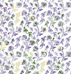 Seamless Colorful Floral Texture vector image vector image
