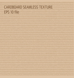 Cardboard seamless pattern - endless background vector