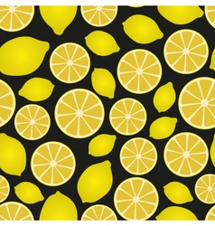colorful lemon fruits and half fruits seamless vector image vector image