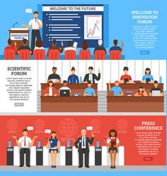 conference presentation banner set vector image