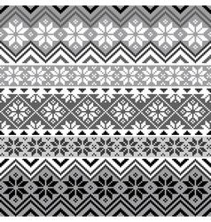 nordic snowflake pattern vector image vector image