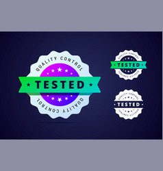 quality control tested stamp for product or vector image vector image