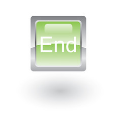 square glossy icon end vector image