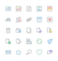 User Interface Colored Line Icons 1 vector image vector image