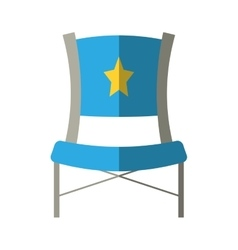 blue chair star director film shadow vector image vector image