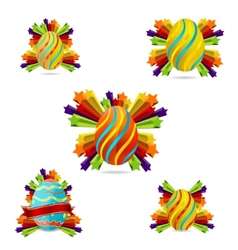 creative easter eggs vector image