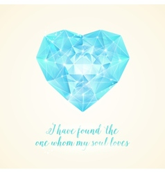 Diamond heart for your design vector image