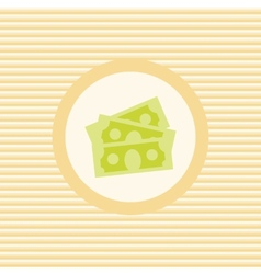 Dollars stack color flat icon vector image vector image