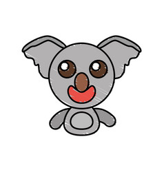 draw koala animal comic vector image vector image