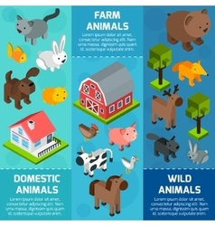 Isometric Animal Banner vector image