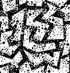 Retro grunge seamless pattern in black and white vector image vector image
