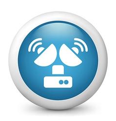 Television Reception glossy icon vector image vector image