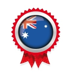 Australia flag badge vector image