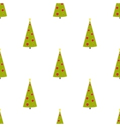 Christmas background with fir trees Hand drawn vector image vector image