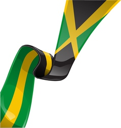 jamaican RIBBON FLAG vector image