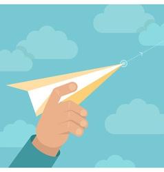 paper plane launch vector image vector image
