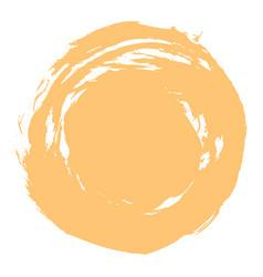 Yellow brush stroke circle shape vector