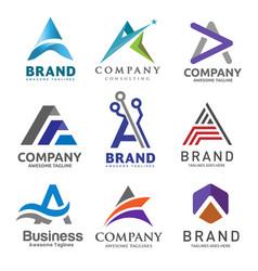 a letter logo design template vector image