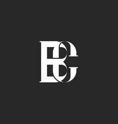 a monogram two interlacing letters b and c the vector image