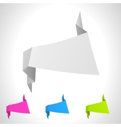 abstract origami background set vector image