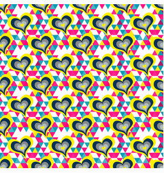 abstract seamless pattern heart and flower petals vector image