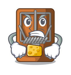 Angry mousetrap isolated with in the cartoon vector