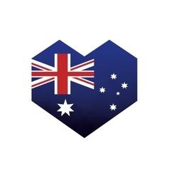 Australian flag heart abstract icon vector
